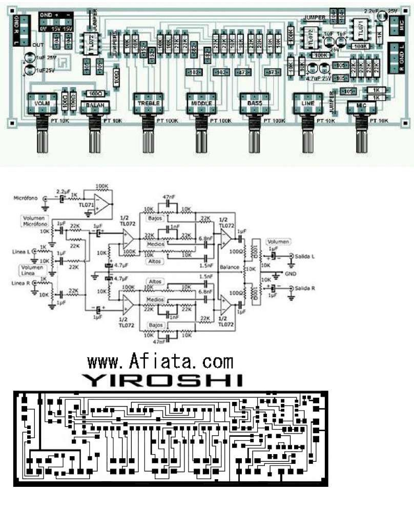 Wonderful Fm Receiver Circuit Diagram Using Transistor Bass And Treble Control Without Any Ic
