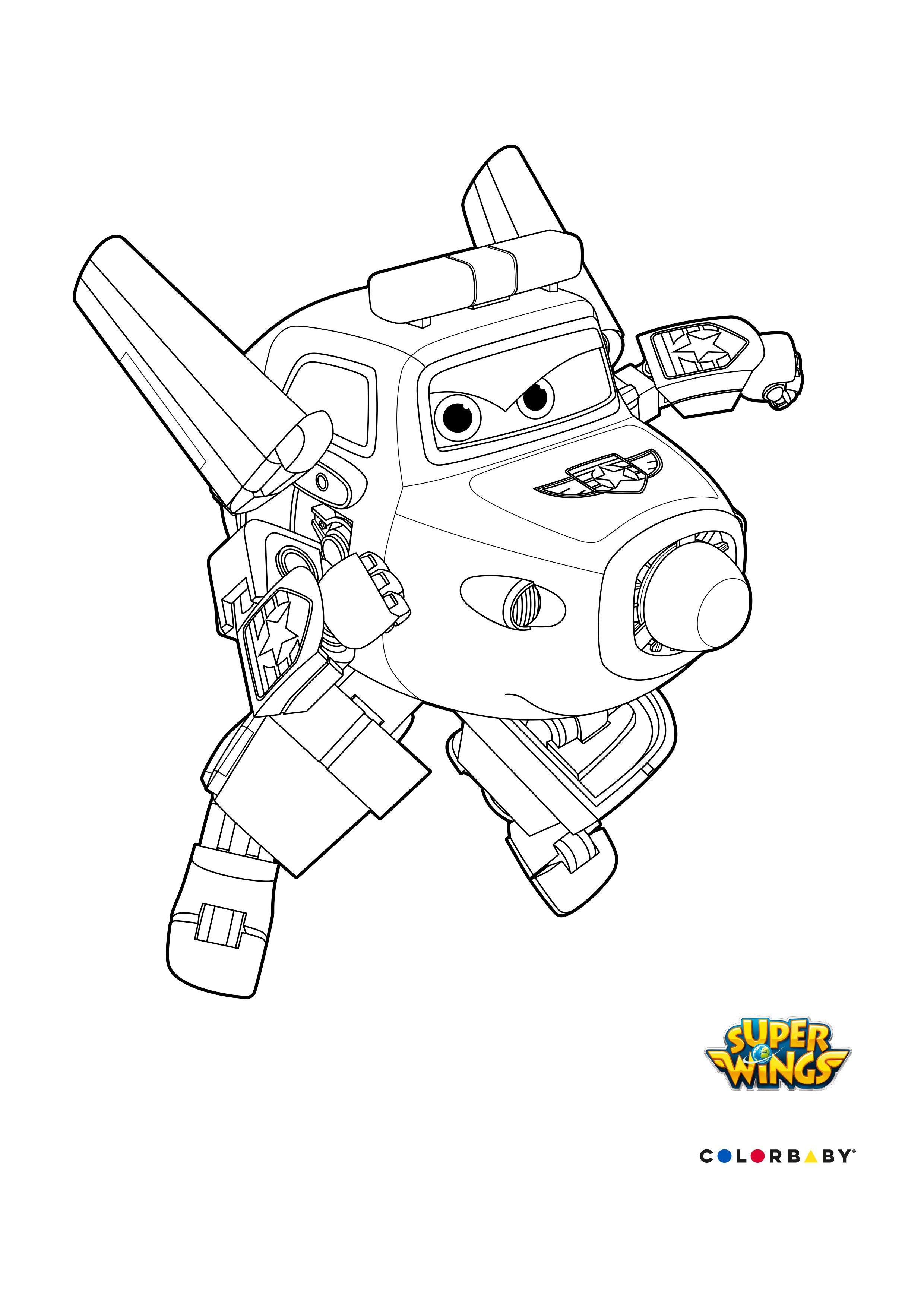 Dibujos Colorear Super Wings Paul Coloring Pages Coloring Pages