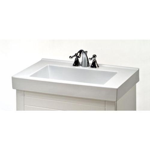Empire Industries V24W4 Villa White Vanity Tops Bathroom Sinks