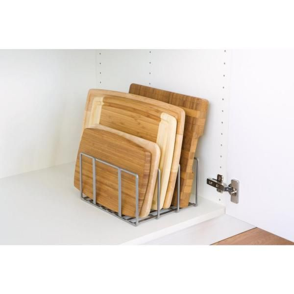 Seville Classics Kitchen Cabinet & Counter Top Cutting Board Organizer SHE14050B - The Home Depot