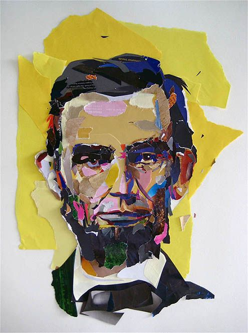 Abraham Lincoln Presidential Portrait Painting 8x10 Real Canvas Fine Art Print