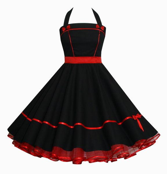Kleider schwarz rot
