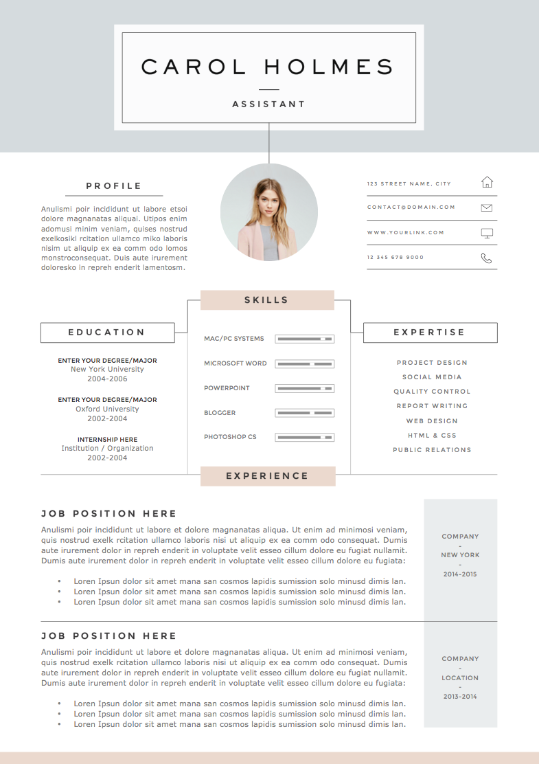Resume Template  Pages  Milky Way