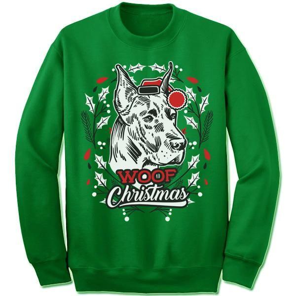 Great Dane Ugly Christmas Sweater | Ugliest christmas sweaters ...