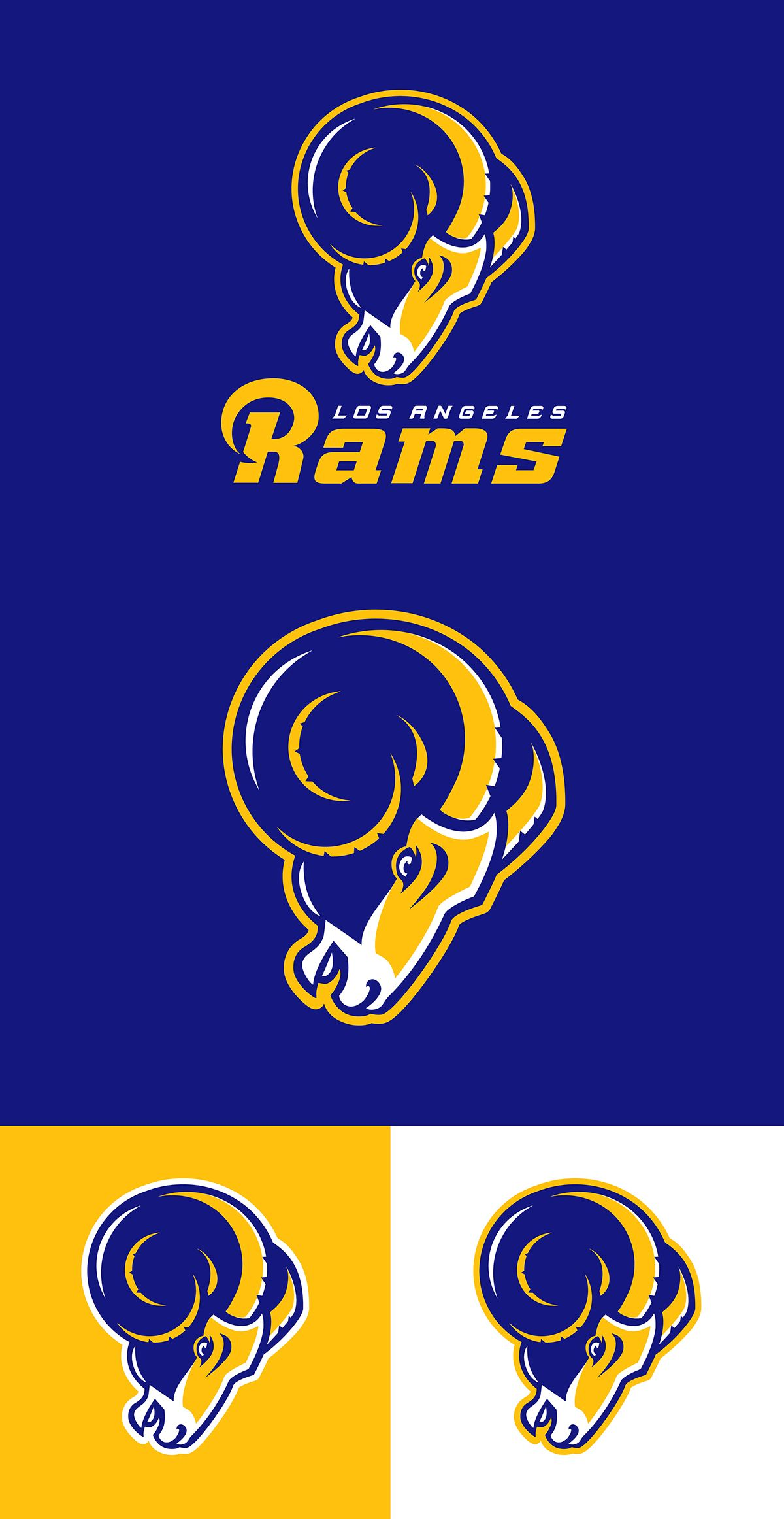 Los Angeles Rams concept on Behance Sports logo, Game