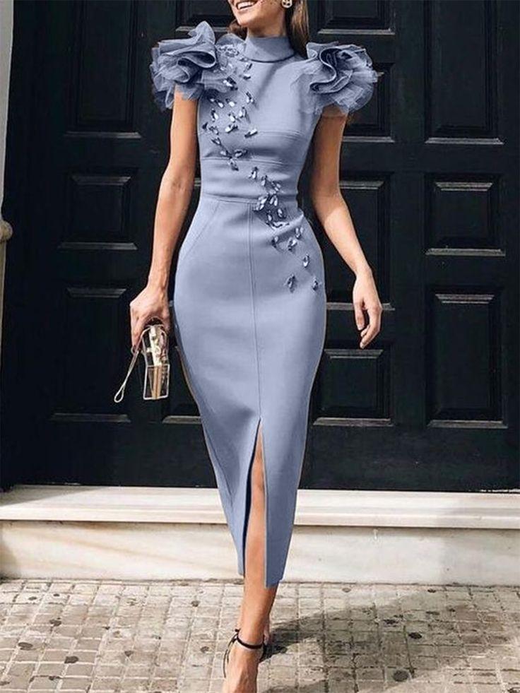 Bodycon Elegant Cocktail Midi Dress -   17 dress Cocktail womens ideas