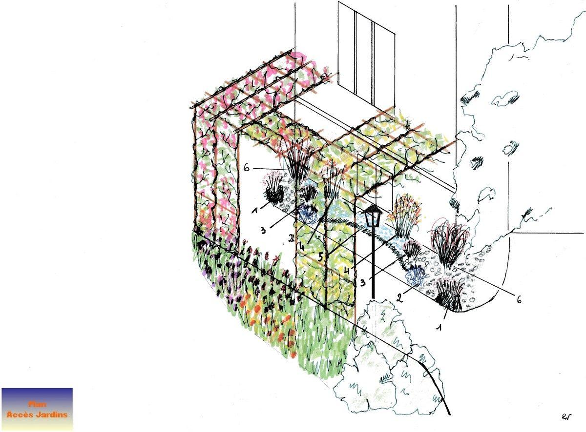 Album plans et schemas plans de jardins plan jardin amenagement jardin et plans - Plan amenagement jardin ...