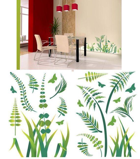Art Applique Ferns Wall Sticker Wall Sticker Outlet Wall Wall