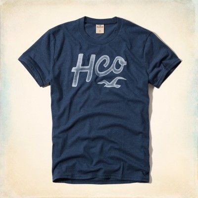 Camiseta Hollister Men s Capo Beach T-Shirt Blue  Camiseta  Hollister d5adf8a5631fa