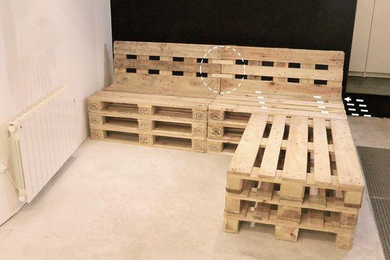 tuto un canap d angle en palettes m6 terrasse woodworking projects diy palette. Black Bedroom Furniture Sets. Home Design Ideas