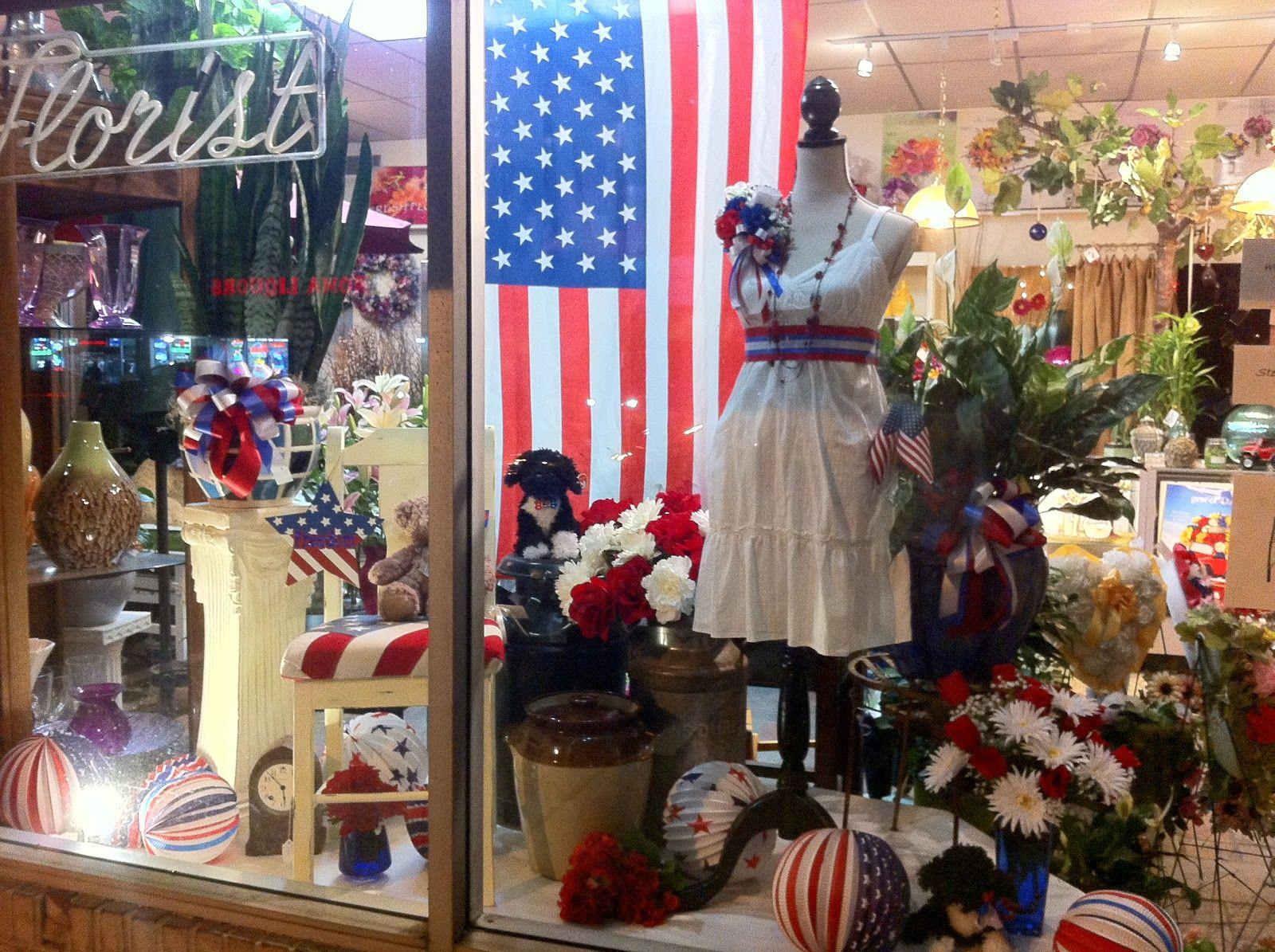 Hooray For The Usa Summer Window Display Window Display Store