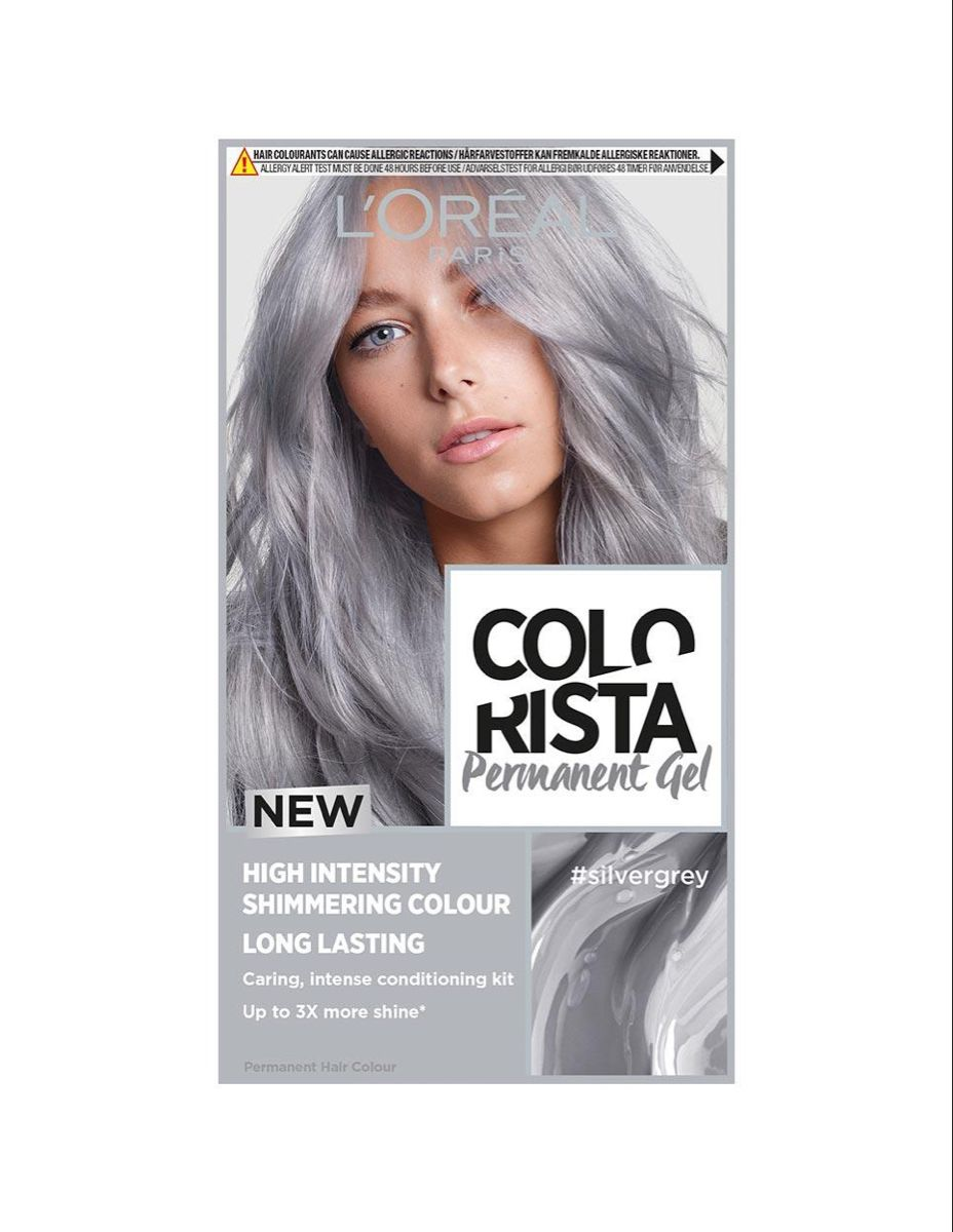 Discover Colorista S Silver Grey Permanent Hair Dye Gel Expertly