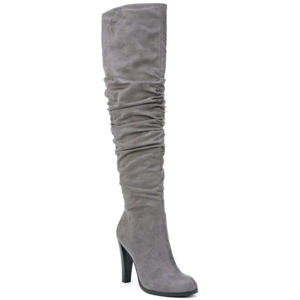 ead09b1d2dd Carlos By Carlos Santana Graphite Delia Over The Knee Boot - Women s ( 169)  ❤ liked on Polyvore featuring shoes