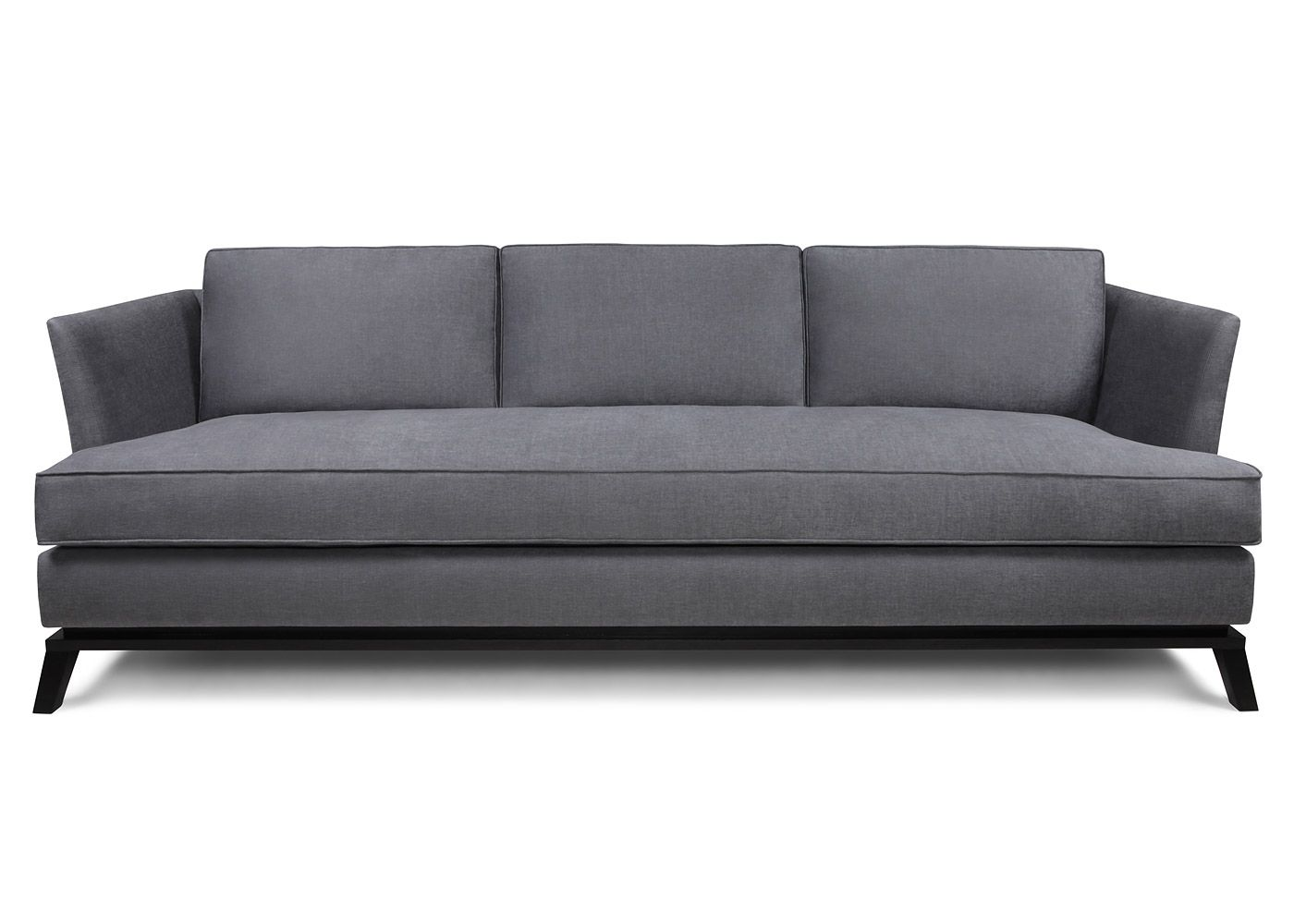 The Cadogan Sofa Is A Sleek Modern Design Slim Arms And Back With Beautiful Show Wood Plinth An Added Detail Of Shadow Gap Gives This