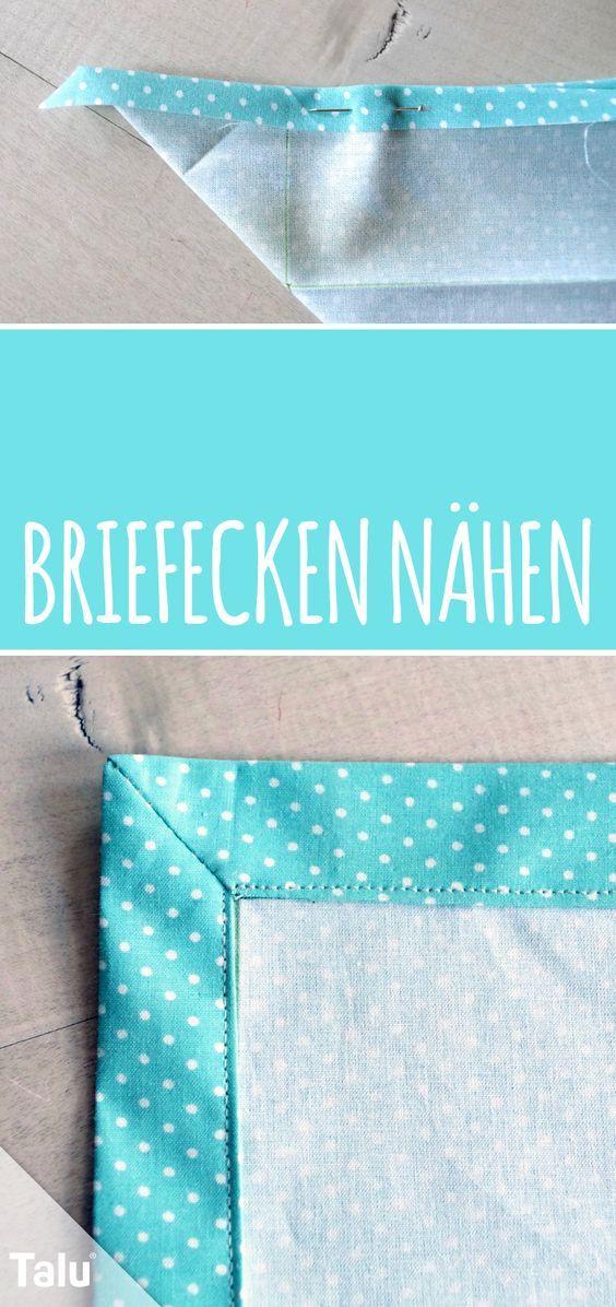 Briefecken nähen - Anleitung und Tipps zum Nähen von Ecken - Talu.de