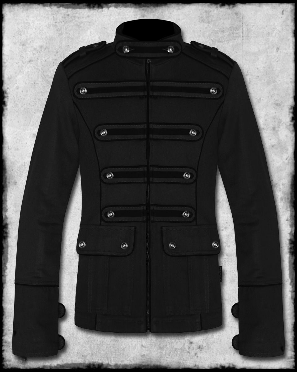 Tripp NYC Mens Black Night Patrol Goth Steampunk Guard Military ...