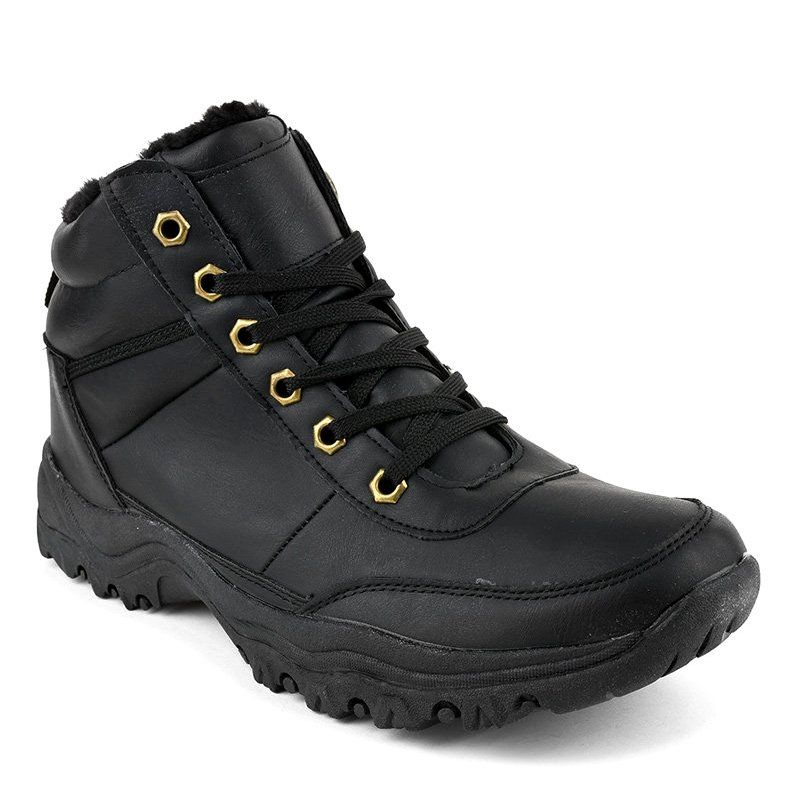 Czarne Ocieplane Buty Trapery Meskie Gt 9578 1 Hiking Boots Shoes Boots