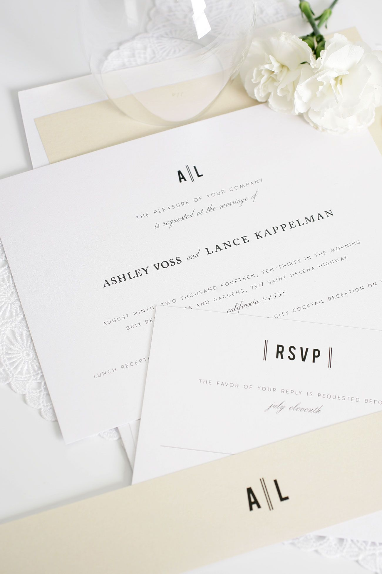 Urban Wedding Invitations in Champagne | Vintage wedding invitations ...