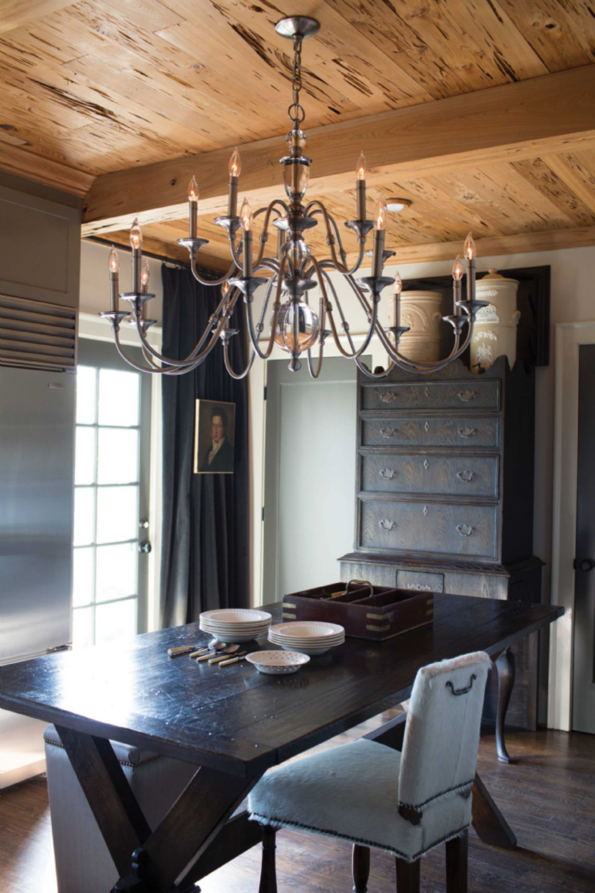 Hinkley Lighting Eleanor Collection Chandelier In Polished Antique Nickel Chandeliers On SaleDining Room
