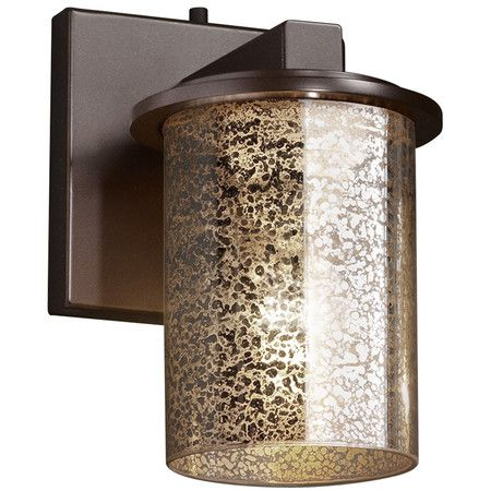 Wall Sconce With A Mercury Finished
