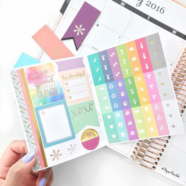 This new @erincondren mini sample sticker book is ADORABLE! 2016 - sample agenda planner