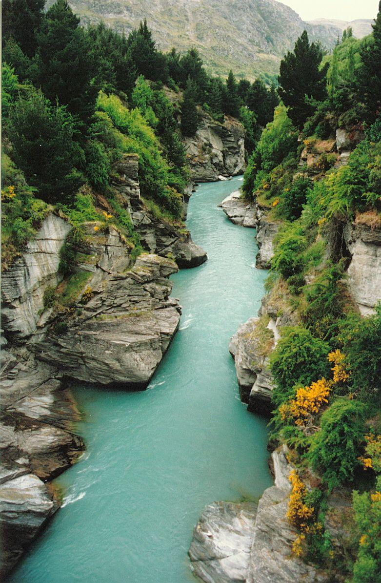 Kawarau River, New Zealand. New zealand travel, Places