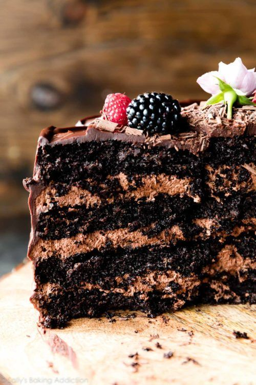 Dark Chocolate Mousse Cake (Sallys Baking Addiction)