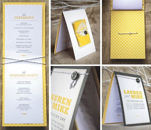 Creative Wedding Program Design Ideas  Wedding Programs
