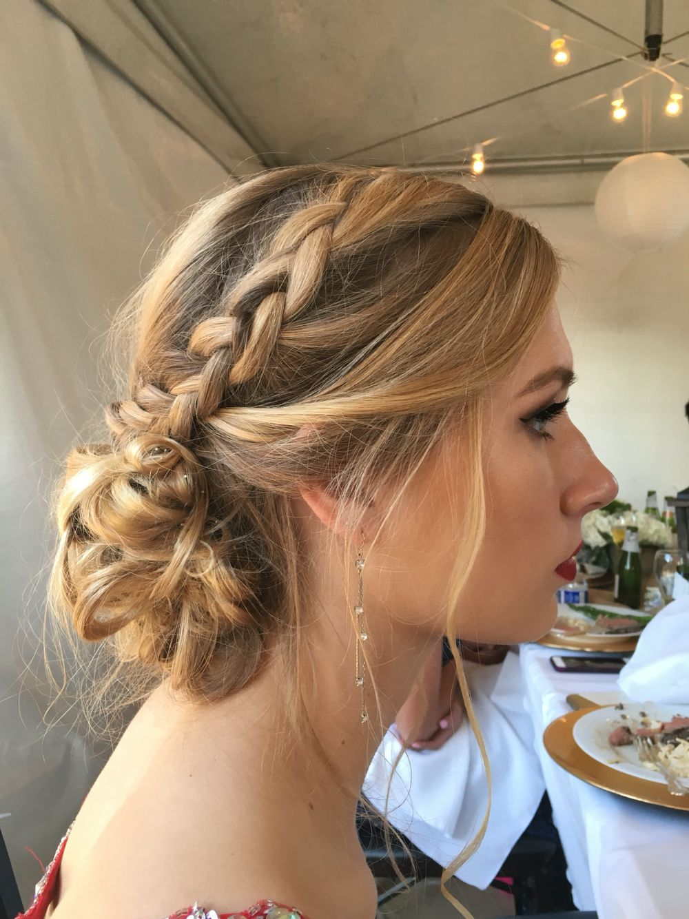 Prom hair updo with braid and swoopy side!!   Hair hacks ...