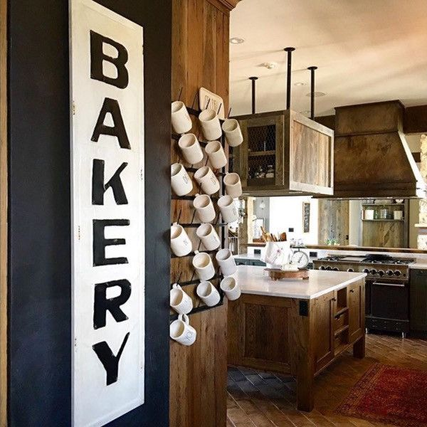 Real Kitchen Background bakery metal sign | bakery sign, farmhouse kitchens and bakeries