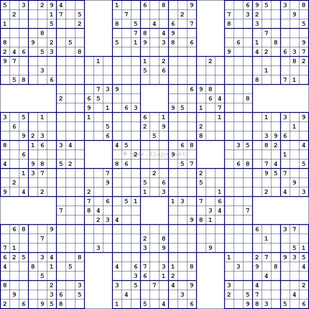 Sudoku Printable Para Imprimir Gratis In
