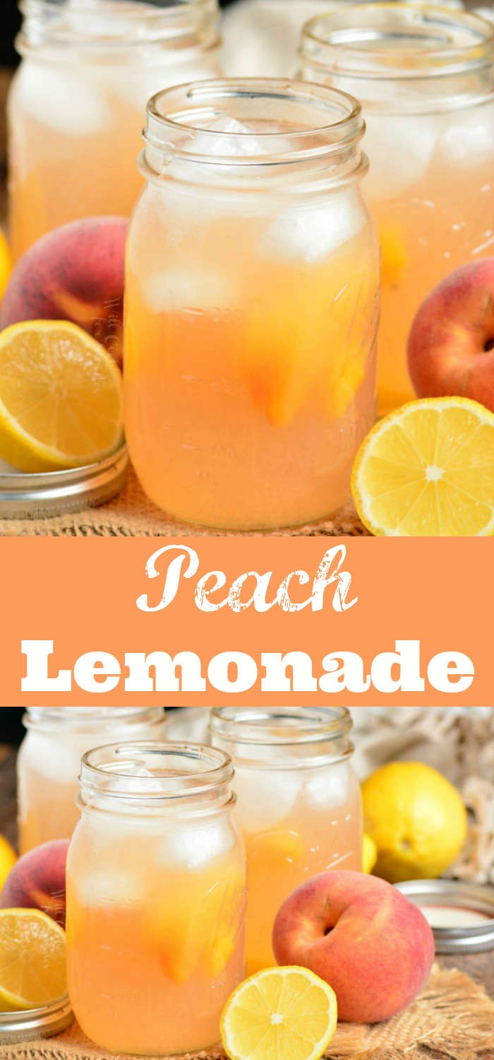 Peach Lemonade - Will Cook For Smiles