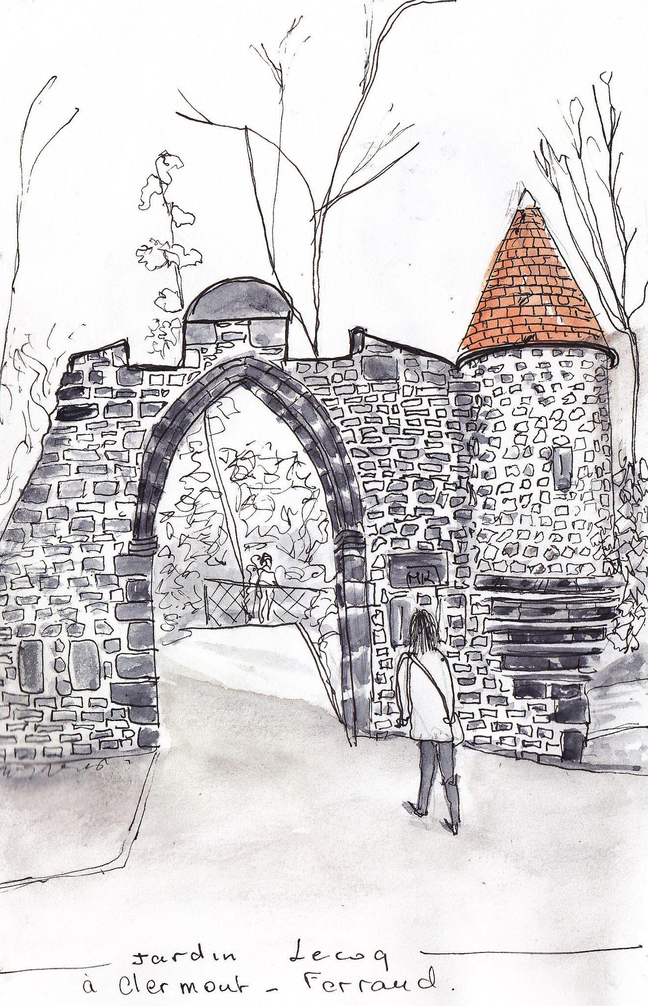 Clermont -Ferrand : Jardin Lecoq  Dessin, Paysage