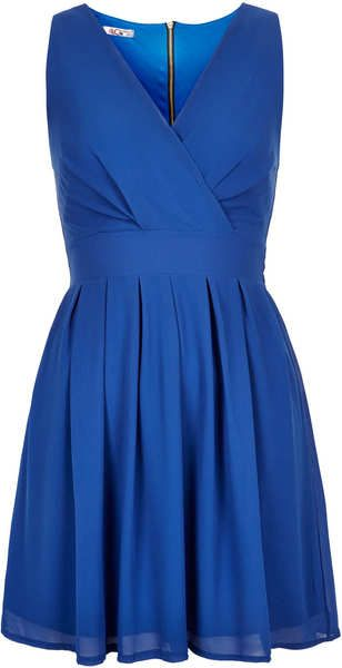 Topshop Cross Bust Dress By Wal G in Blue