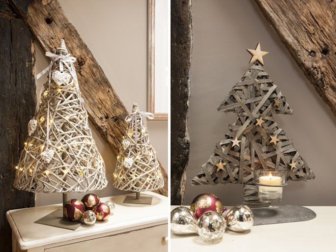 Navidad rustica con madera y raíces Navidad Pinterest
