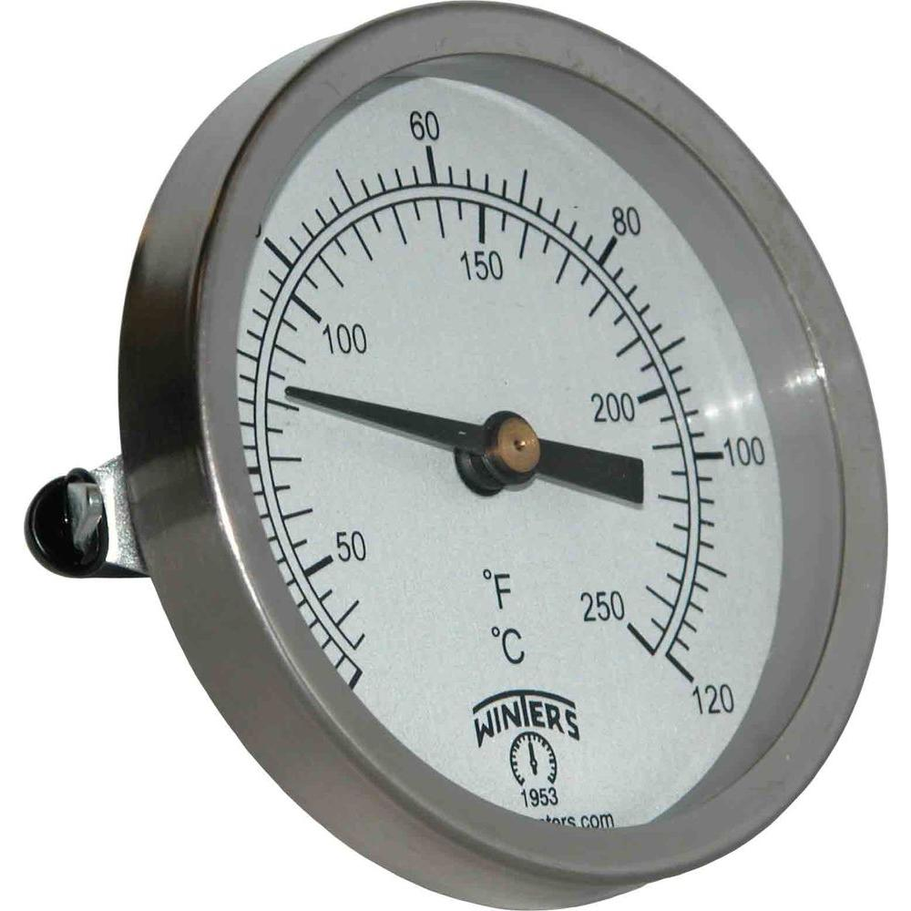 Tct Series 25 In Mild Steel Case Clamp On Thermometer With Bi Infrared Fluke 59 Max Metallic Sensing Element And Range Of 30 250 Degrees F C