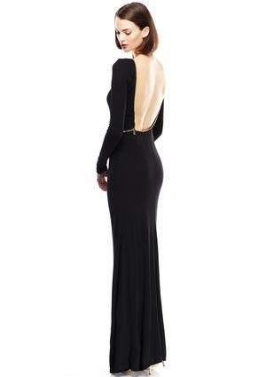 0beedfc1d9ee ABS ALLEN SCHWARTZ Black Zipper Detail Gown