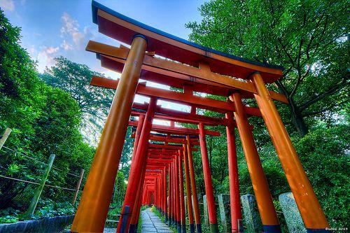 HDR Photo: Nezu Shrine 'Much torii'