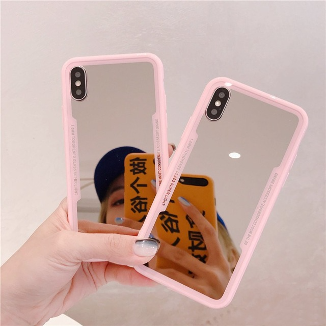 Mirror Tpu Makeup Case For Iphone 11 Pro Xs Max Shockproof In 2021 Iphone Iphone Cases Case