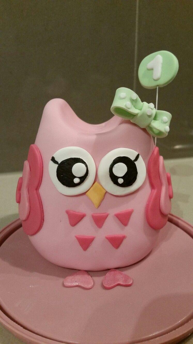 Owl cake topper 1st birthday   Cake   Owl cake toppers, Cake, Owl cakes