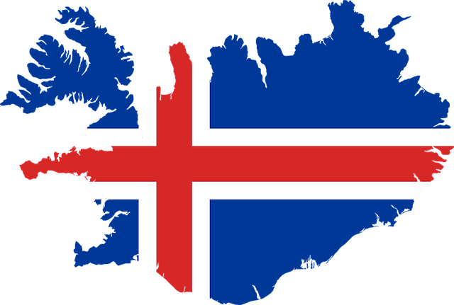 Flag In The Shape Of Iceland Iceland Flag Iceland Facts Iceland Map