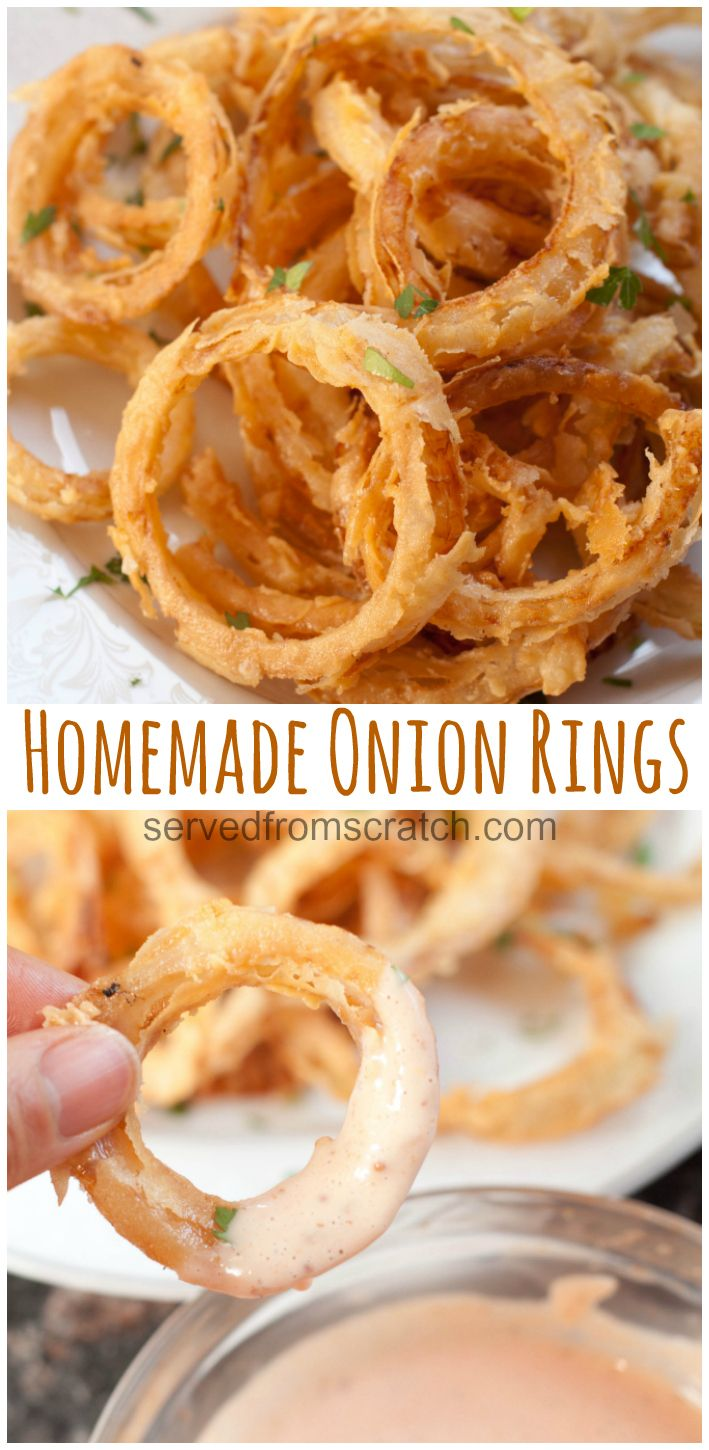 Homemade Onion Rings Recipe In 2020 Homemade Onion Rings Recipes Perfect Appetizers