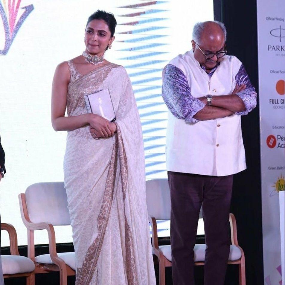 Deepikapadukone Closet On Instagram Deepika Padukone And Boney Kapoor Sridevi The Eternal Screen Goddess Book Launc Boney Kapoor Deepika Padukone Book Launch