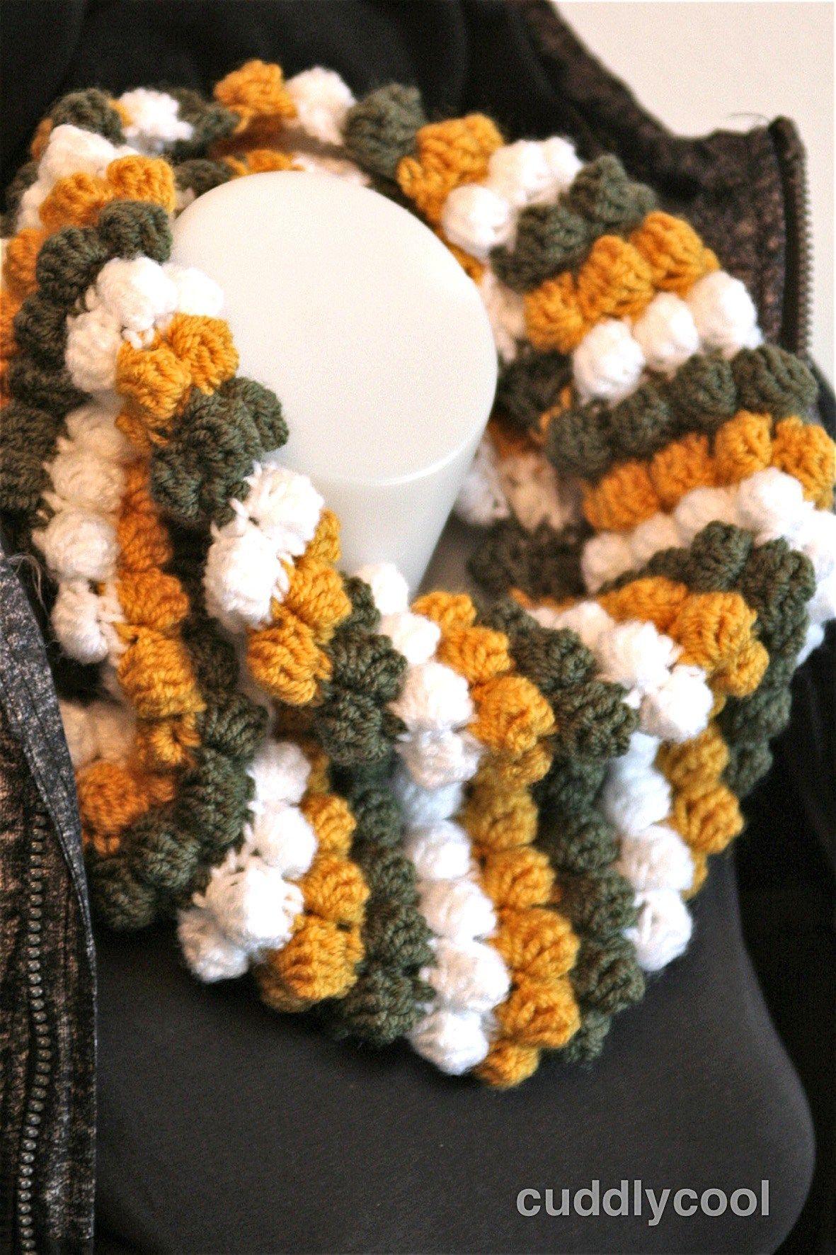 Warme Bobble Colshawl Haken Crochet Crochet Crochet Shawl