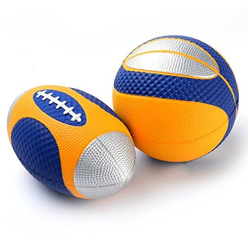 Chastep Mini Ball Set Pack Of 2include 6 Inch Foam Football And 5 Inch Basketball Details Can Be Found By Clickin Sports Games For Kids Football Rugby Balls