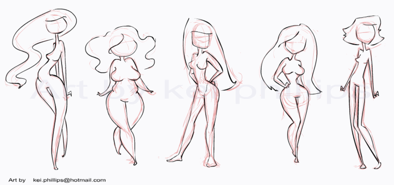 Body Shapes By Kei By Kinkei On Deviantart Body Type Drawing Cartoon Drawings Body Shape Drawing