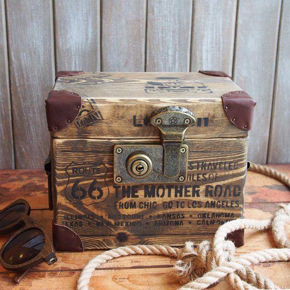 Custom Memory Box Small Rustic Wooden Keepsake Box Loft Gift Box