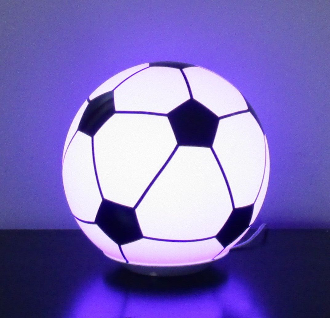 On Led Night Light Table Lamp Color Changing Soccer Ball