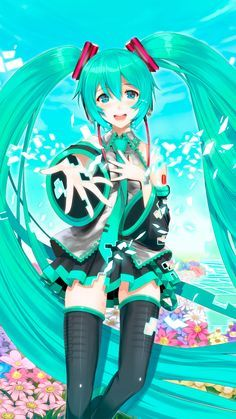 Hatsune Miku anime wallpaper for Iphone and Android