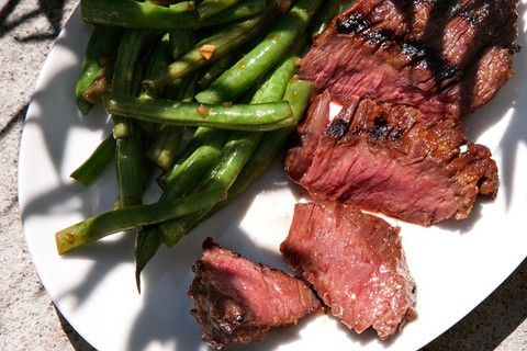 Grilled Skirt Steak W/red Miso Marinade...i Love Miso & Never Thought Of Using It In A Beef Marinade